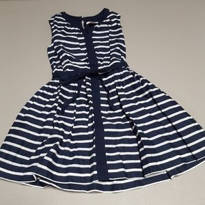 Crewcuts nautical dress 100% cotton Stripped